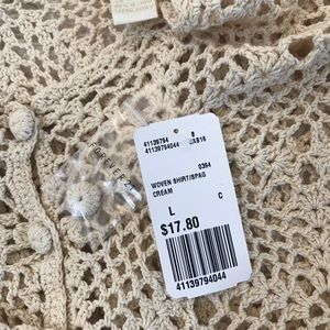 Forever 21 Tops - NWT Crochet Tank! SIZE L